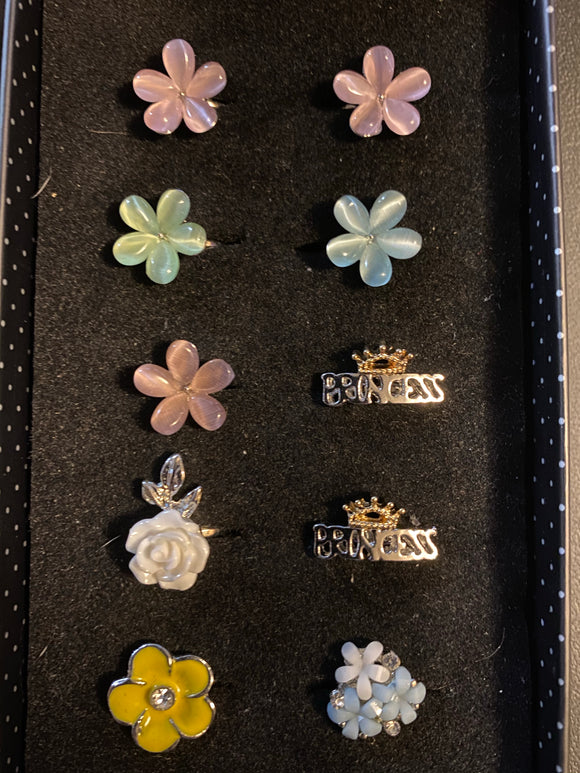 Paparazzi VINTAGE VAULT Starlet Shimmer Girls Flower Princess Rings Lot#131 Paparazzi Jewelry