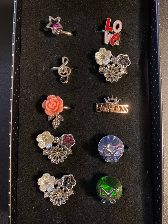 Paparazzi VINTAGE VAULT Starlet Shimmer Girls Statement Maker Rings Lot#129 Paparazzi Jewelry