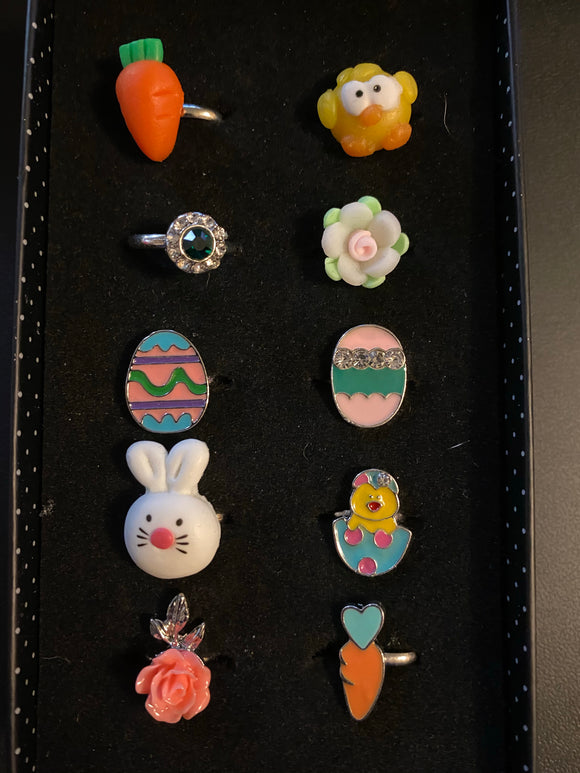 Paparazzi VINTAGE VAULT Starlet Shimmer Easter Girl Rings Lot#127 Paparazzi Jewelry