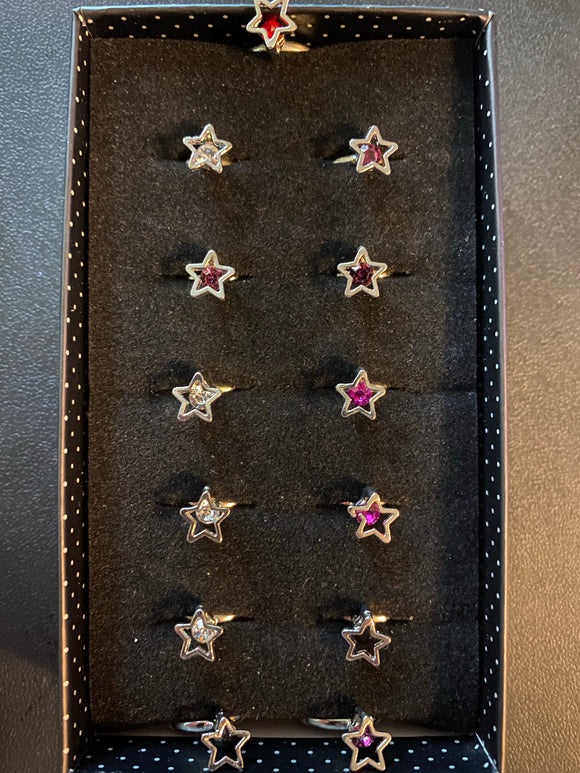 Paparazzi VINTAGE VAULT Starlet Shimmer Rhinestone Silver Star Rings Lot#38 Paparazzi Jewelry