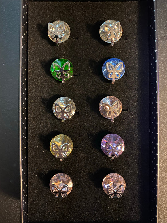 Paparazzi VINTAGE VAULT Starlet Shimmer Multi Color Butterfly Rhinestone Rings Lot#69 Paparazzi Jewelry
