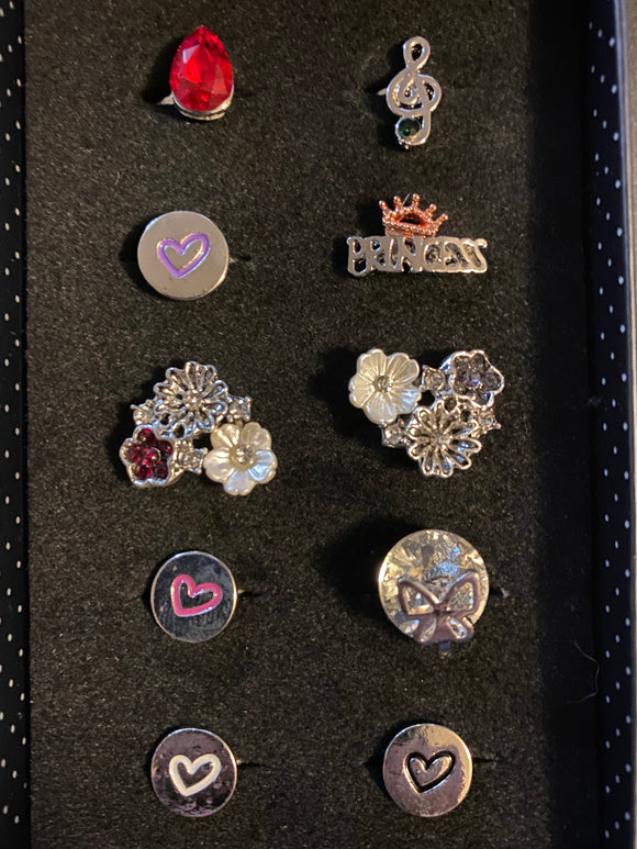 Paparazzi VINTAGE VAULT Starlet Shimmer Girls Play Date Rings Lot#135 Paparazzi Jewelry
