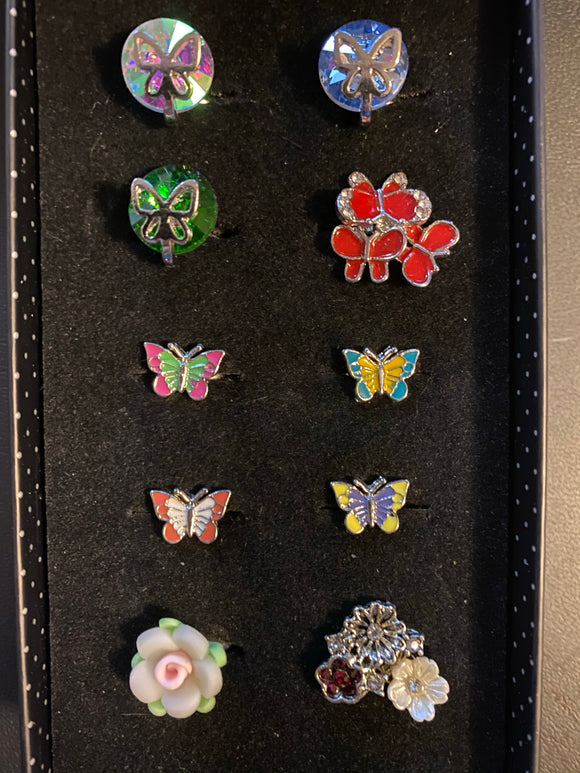 Paparazzi VINTAGE VAULT Starlet Shimmer Flowers & Butterflies Rings Lot#117 Paparazzi Jewelry