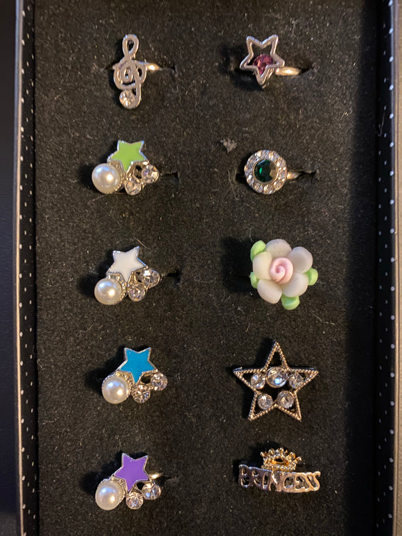 Paparazzi VINTAGE VAULT Starlet Shimmer Punk Princess Rings Lot#125 Paparazzi Jewelry