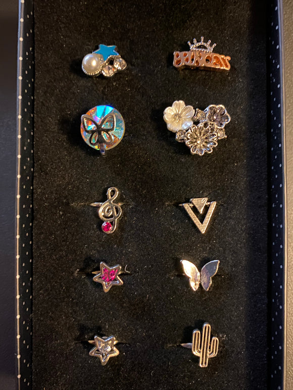 Paparazzi VINTAGE VAULT Starlet Shimmer Girls Sprinkle Fest Rings Lot#128 Paparazzi Jewelry