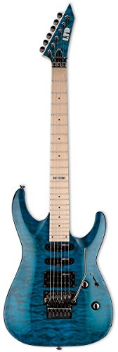 ESP LTD MH-103QM Electric Guitar, See Thru Blue