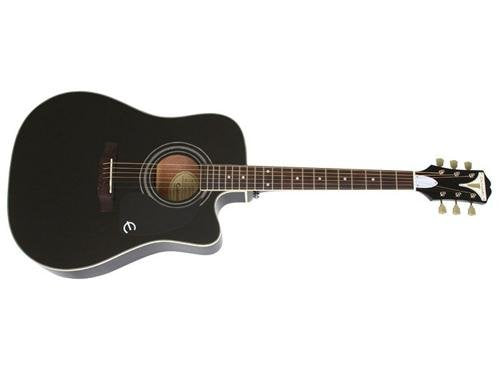 Epiphone EEPUEBCH1 PRO-1 ULTRA Acoustic/Electric Guitar, Ebony