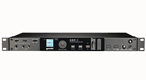 Gemini DRP-1 19-inch 1U Professional Audio Standalone Digital Rackmount Recorder with Full Color LCD, Soundboard Compatible