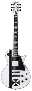 ESP LTD James Hetfield Iron Cross Electric Guitar with Case, Snow White