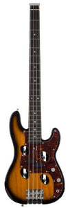 Traveler Guitar TB-4P Electric Travel Bass with Gig Bag (Sunburst)