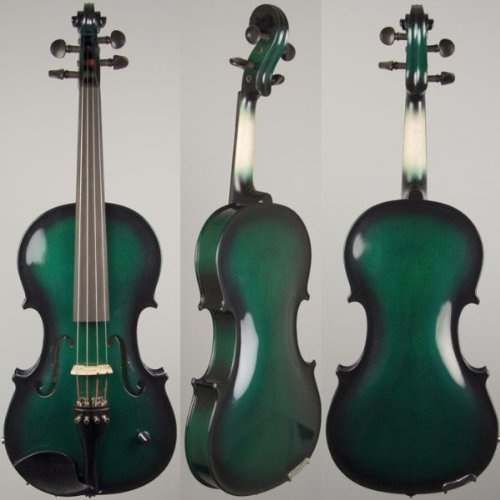 Barcus Berry Vibrato-AE Series BAR-AEG Acoustic-Electric Violin (Metallic Green Burst)