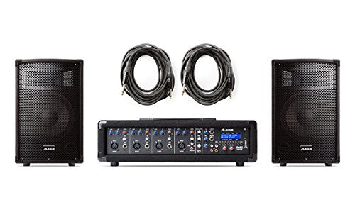 Alesis PA System in a Box | 280-WATT (80 WATTS CONTINUOUS) 4-CHANNEL PA SYSTEM