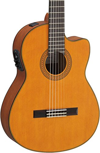 Yamaha CGX122MCC Classical Acoustic-Electric Guitar, Solid Cedar Top
