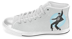 Antiskid Sneakers Shoes with The King of Rock and Roll Elvis Presley Pattern for Female