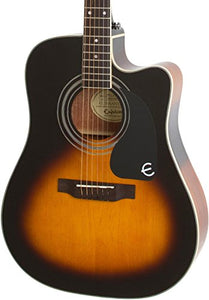 Epiphone Pro-1 Ultra Solid Top Acoustic/Electric Guitar System for Beginners, Gloss Vintage Sunburst Finish