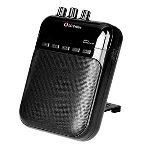 LC Prime Aroma Guitar Amp Mini Portable Clip Amplifier Speaker Recorder 2 in 1 Chargeable w/ TF Card Slot for Acoustic, Electric Guitar, Violin