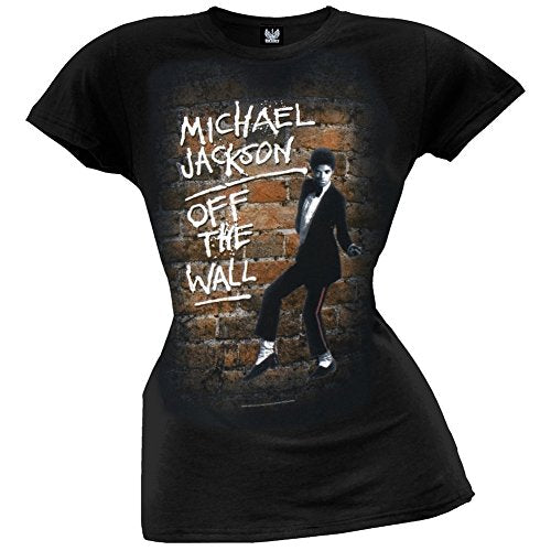 Michael Jackson - Womens Off The Wall Juniors T-shirt X-large Black