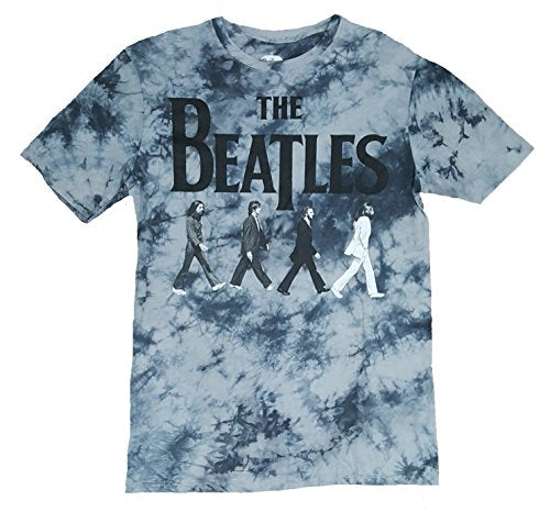 Beatles Abbey Road Gray Tie Dye Graphic T-Shirt - Large
