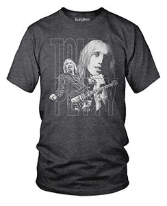 Tom Petty and the Heartbreakers, Memorial T-Shirt- (Hthr Charcoal) Large