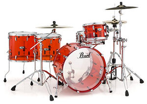 Pearl CRB524FP/C731 Crystal Beat 4 Piece Shell Pack, Ruby Red (Cymbals/Hardware Sold Separately)