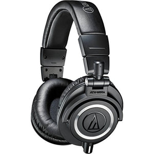 Audio-Technica ATH-M50x Professional Monitor Headphones, Black