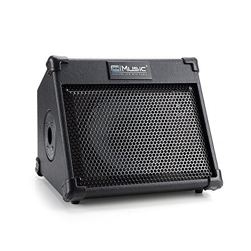 Coolmusic BP25 Portable Powered Battery Amplifier with Bluetooth, Acoustic Guitar Amplifier Keyboard Amplifier and Sound Speaker