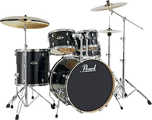 Pearl Export Lacquer EXL725/C248 5-Piece Standard Drum Set, Black Smoke