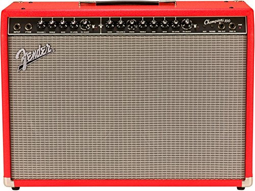 Fender 2330400600 Limited Edition Champion 100 Electric Guitar Amplifier, Fiesta Red
