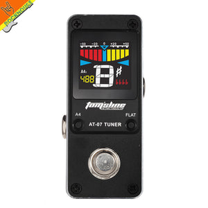 AROMA Mini Guitar Tuner Efect Pedal Guitar Tuning Stompbox High sensitivity precision metal shell HD display