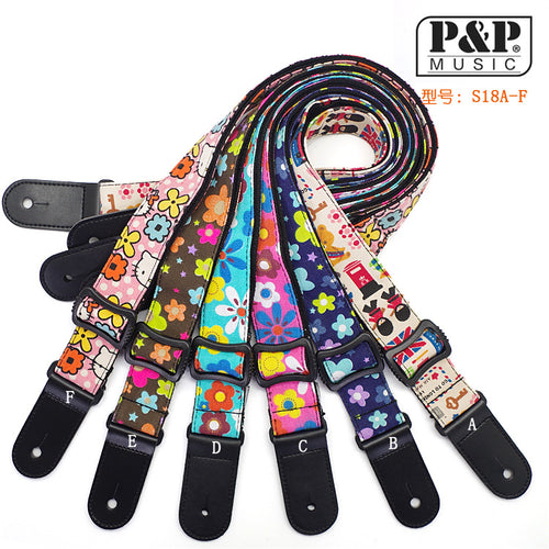 Cotton Cartoon Children Small Guitar Strap / Ukulele Strap