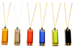 Mini Harmonica  Necklace 4 Holes 8 Tones