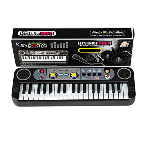 Multifunctional Mini Electronic Piano with Microphone / Kids Portable 37 Keys Digital Keyboard