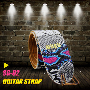 Awesome ! Leather Serpentine Design Guitar Straps