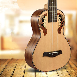 26 inch Tenor Ukulele Ingrid Spruce Grape Style Sound Hole Mini Guitar Acoustic Or Electric Pickup EQ