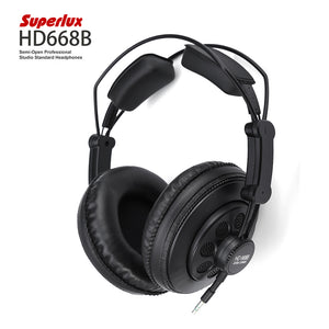 Superlux HD668B Semi-open Professional Studio Standard Dynamic Headphones Two-channel 3.5mm Stereo Headphone With 10Hz-30KHz