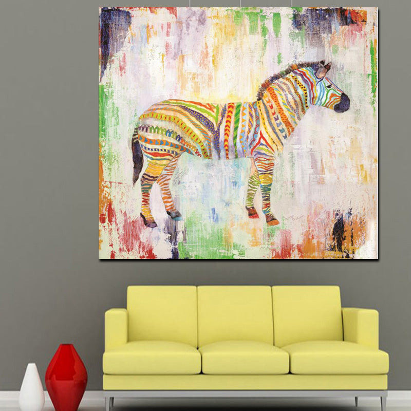 LIMITED EDITION ZEBRA ABSTRACT CANVAS ART PIECE – The Lazy Hut