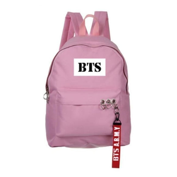 Bts A.r.m.y Classic Logo Backpack - Pink - Bags