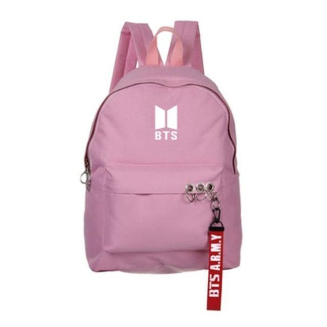 Bts A.r.m.y Official Logo Backpack - Pink Backpack White Logo - Bags ...