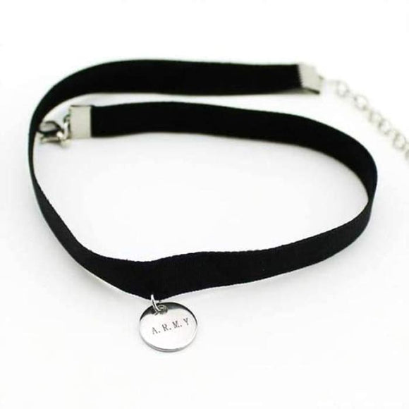 BTS ARMY Logo Choker Necklace - Accessories