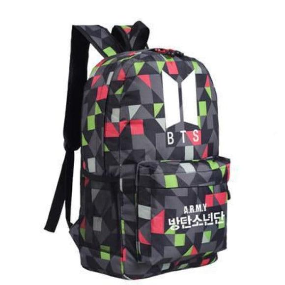 Bts Army Block Backpack - Black - Bags