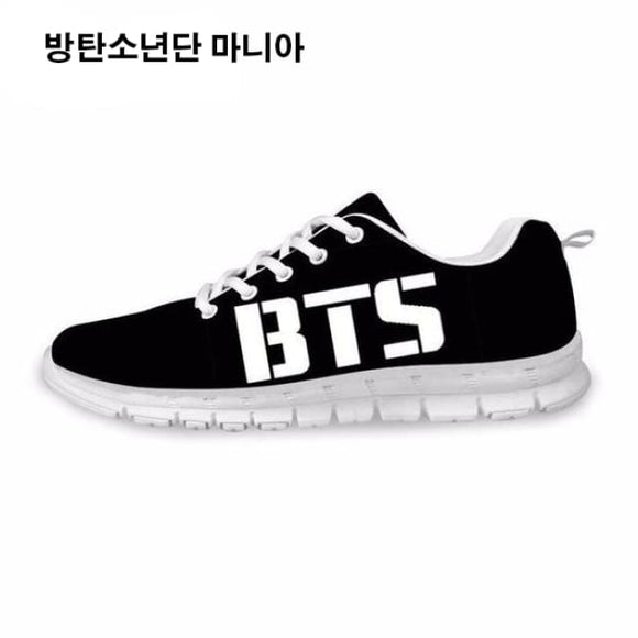 Bts () Classic Logo Sneakers - Black And White / 5 - Sneakers