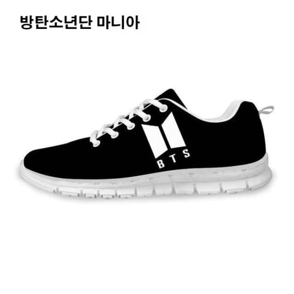 Bts () New Logo Sneakers - Black & White / 5 - Sneakers