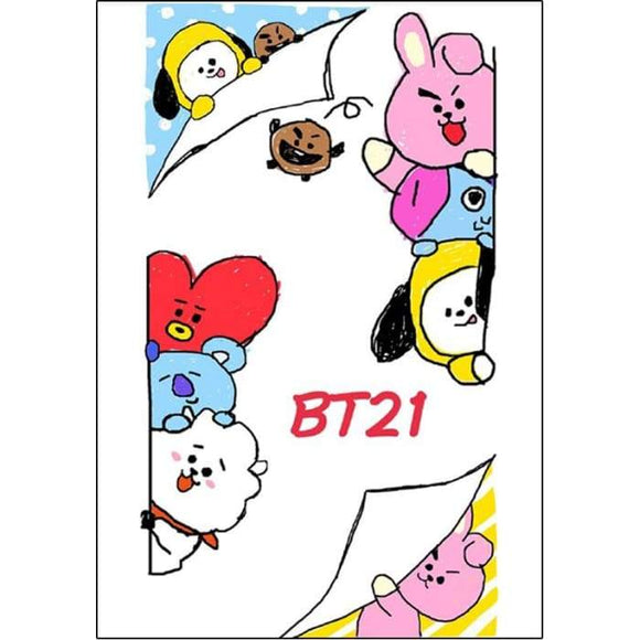 Bts Bt21 A4 Small Collection Posters (9 Posters) - Poster