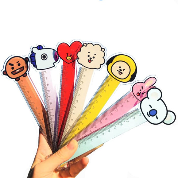 BTS BT21 Character Face Ruler - ALL 7 RULERS (20% OFF) - BT21