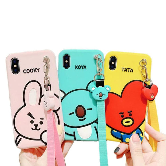 BTS BT21 Character Rubber Phone Case - BT21