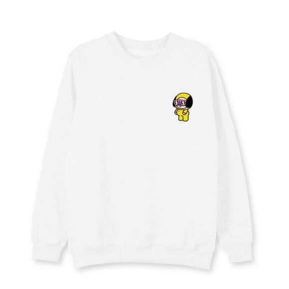 Bts Bt21 Chimmy Sweatshirt (3 Colors) - White / L - Sweatshirts