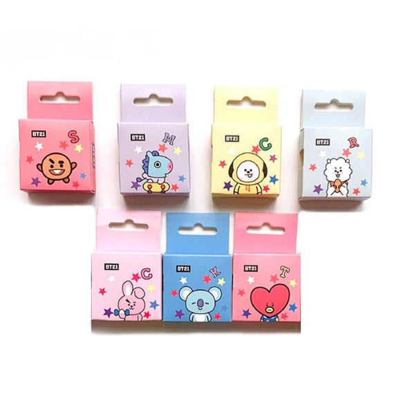 BTS BT21 Cute Design Tape - Set Of 7 (Save 10%) - BT21