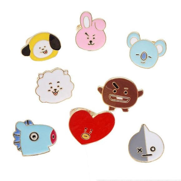 BTS BT21 Cute Ring - Set of 8 (Save 20%) - BT21