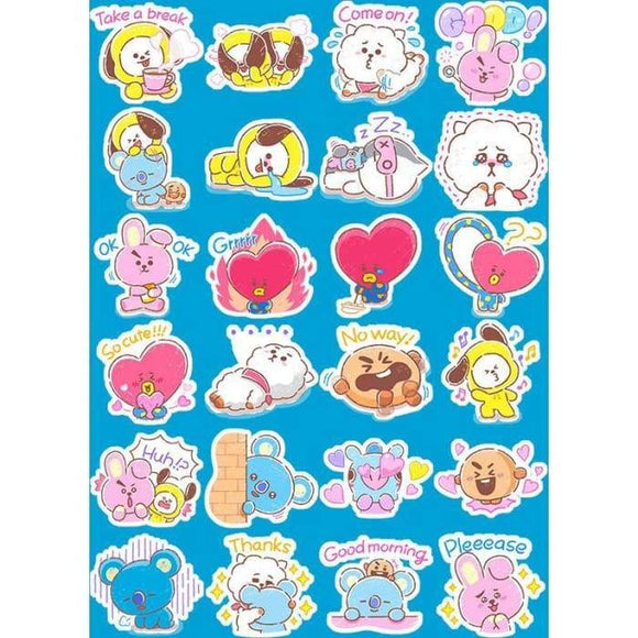 Bts Bt21 Cute Text Stickers - Stickers