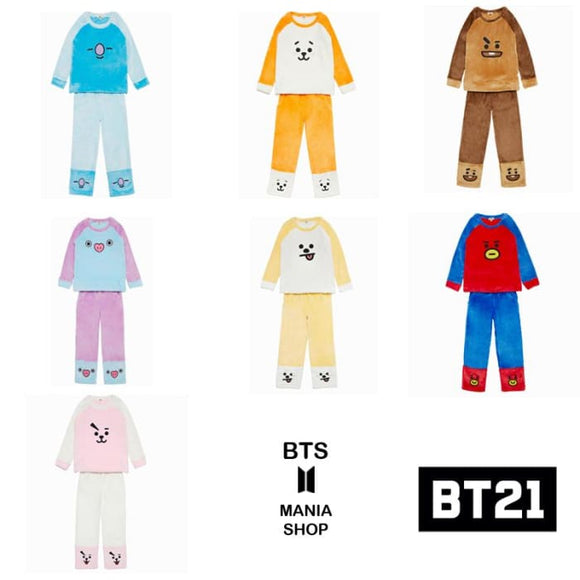 Bts Bt21 Embroidery Plush Pajamas - Bt21